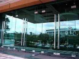 entrance glass door building glass door
