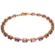 bracelet rose gold images Alarri 14k rose gold tennis bracelet with amethyst jpg