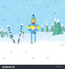 young man snow ball hand playing stock vector 574922332 shutterstock