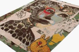 Graffiti Area Rug Small Area Rug By Dain Franklyn For Sale At 1stdibs