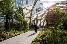 Botanical Garden Station by Crossrails Station Roof Garden By Gillespies Landscape