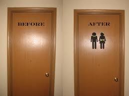 sweet peppermint kisses bathroom door make over