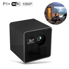 p1 mini dlp led projector portable wifi projector 1080p support