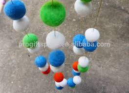 high quality handmade 2cm 100 wool felt ball rugs wholesale for