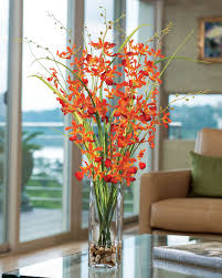 artificial floral arrangements artificial dancing orchid grass flower arrangement at