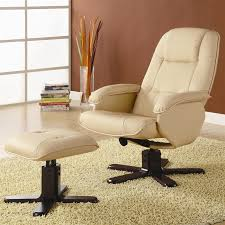 matching chair and ottoman leather chair with matching ottoman by coaster 600141