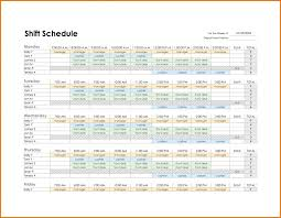 7 weekly employee schedule template procedure sample yearly work