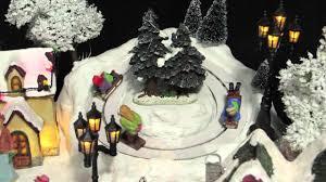 illuminated animated u0026 musical mountain village scene ornament