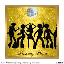 disco 70 u0027s birthday party invitation retro 70 u0027s theme party