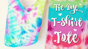 diy t shirt tote bag no sew easy tie dye how to youtube