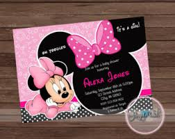 minnie mouse baby shower favors minnie mouse baby shower etsy