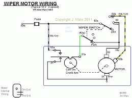 wiring diagram for windshield wiper motor wiper motor wiring