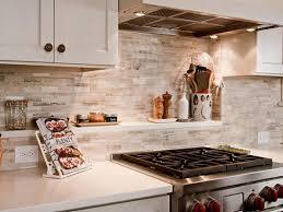 kitchen compact backsplash ideas tile kitchen white old world wall racks gas stove brown gloss stainless steels oven brick inspiring backsplash