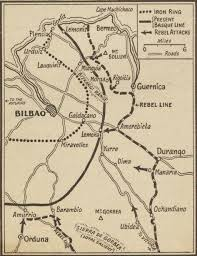 Northern Spain Map by Spanish Civil War Maps Modern Records Centre University Of Warwick