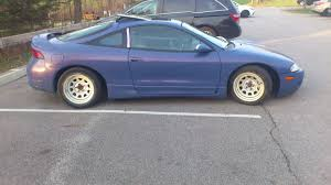 dsm mitsubishi eclipse my 1996 celtic blue eclipse when it ran it u0027s slammed with mickey