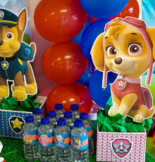 diy paw patrol party decoration centerpieces paw patrol