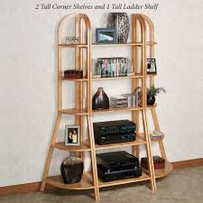 Short Ladder Bookcase by Kimber Natural Oak Corner And Ladder Shelves