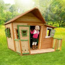Wooden Backyard Playhouse Large Wooden Outdoor Playhouse For Kids U0026 Toddlers