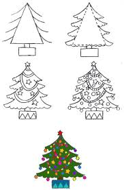 free coloring pages draw trees with step by step
