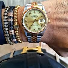 luxury man bracelet images Rolex paired with shopzenger bracelets shop now at www jpg