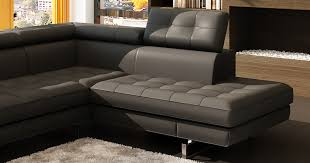 canapé d angle capitonné deco in canape d angle capitonne noir tetieres relevable