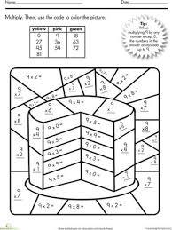 color by number math worksheets worksheets