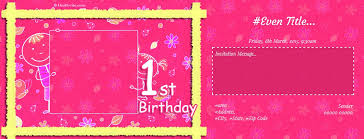 free 1st birthday invitation card u0026 online invitations
