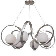 lighting by the sea 6 light antique silver mid century modern chandelier 6466 sa