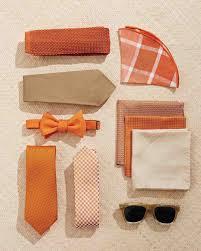 Orange Accessories 10 Trendy Ideas For Tan And Orange Wedding Colors Martha Stewart