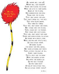 one of dr seuss s poems poetry we are learning poetry i