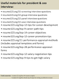 Ceo Resume Templates Top 8 President Ceo Resume Sles