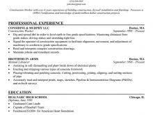 free laborer resume templates free resume
