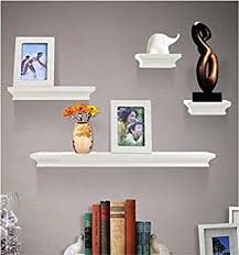 Wall Shelves Amazon by Amazon Com Shelving Solution 6 Pieces Wall Shelf Set White
