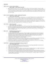 resume agile scrum resume ideas