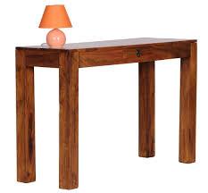 Schreibtisch 120 Konsolentisch Massiv 120 Cm Mit 1 Schublade Massivholz