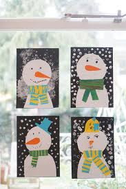 sweet and easy snowmen on our window babyccino kids daily tips