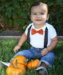 toddler boy halloween costume halloween for baby boys pumpkin bow tie and suspenders
