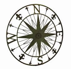 compass rose fleur de lis vintage finish metal wall hanging ebay