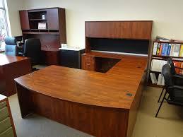 cherry u desk w hutch