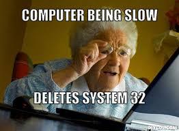 Computer Grandma Meme - grandma meme template