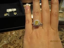yellow engagement rings diamond engagement rings in box new yellow diamond