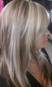 platinum hairstyles with some brown icy blonde highlights on brown love this time 4 hair nails