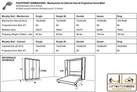 full size murphy bed cabinet full size murphy bed dimensions throughout diy hardware kit lift