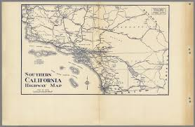 Map Southern California Southern California Highway Map David Rumsey Historical Map