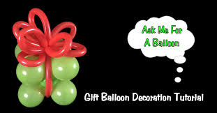 gift balloon decoration tutorial christmas or birthday youtube