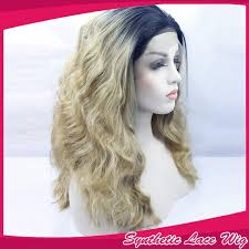 pictures of black ombre body wave curls bob hairstyles loose wave ombre blonde color synthetic lace front wigs for women