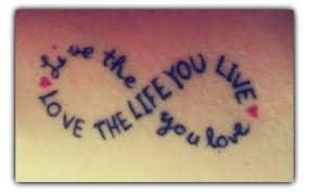 infinity quote tattoos