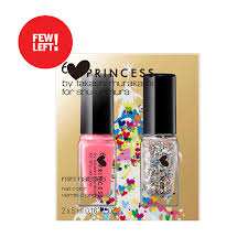 pink princess fun tasy mini nail duo set smooth nail polish