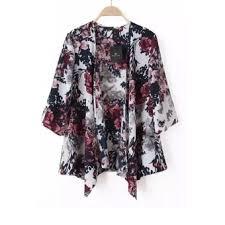 cardigan kimono chiffon kimono cardigan floral print multicolor lazada ph