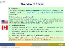 3 e bureau label ha manh pham viet nam telecommunications authority e labeling for
